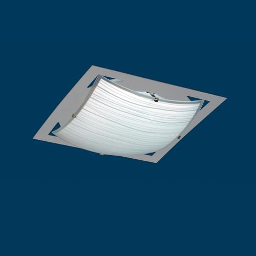 Artef techo  1xE27 cuad L280 vid-cur AcIn PLA