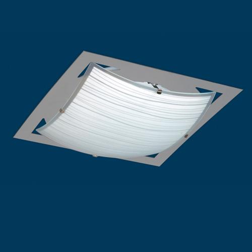 Artef techo  2xE27 cuad L360 vid-cur AcIn PLA